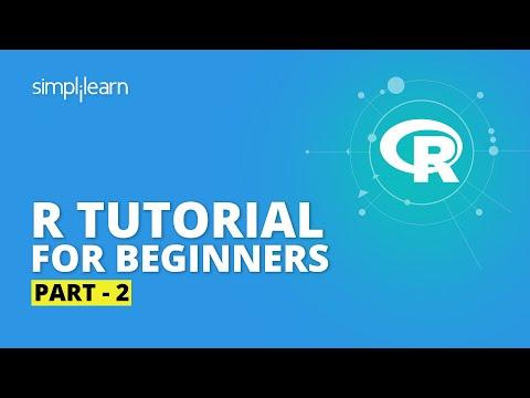 R Tutorial For Beginners Part - 2   R Programming For Beginners   R Language Tutorial   Simplilearn