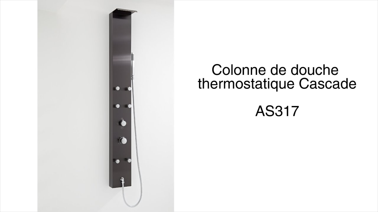 colonne de douche thermostatique cascade youtube. Black Bedroom Furniture Sets. Home Design Ideas