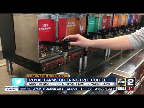 Free coffee at Royal Farms