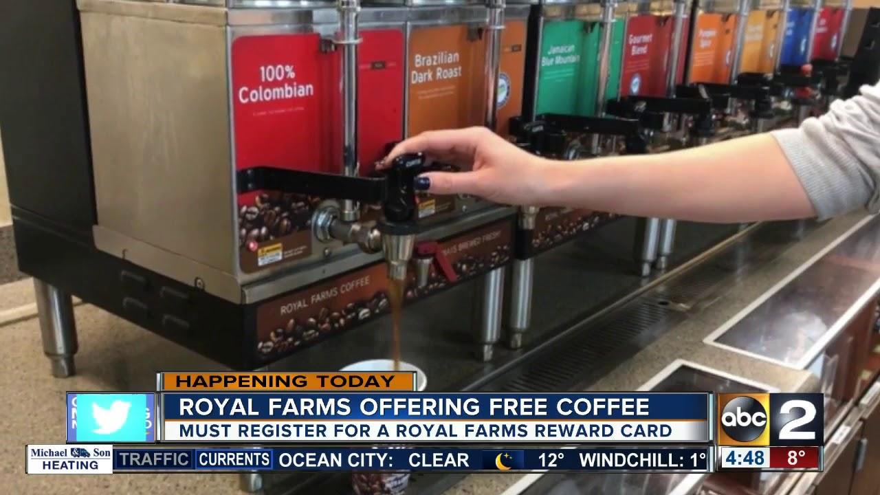 Free Coffee At Royal Farms Youtube