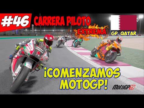 COMENZAMOS EN MOTOGP ¡CUMPLIENDO UN SUEÑO!   MOTOGP 19 CARRERA PILOTO#46   GP. QATAR   TEMP 4