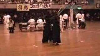 剣道二刀流の試合 2006.7.31必殺会心の一撃 決死の一撃 thumbnail