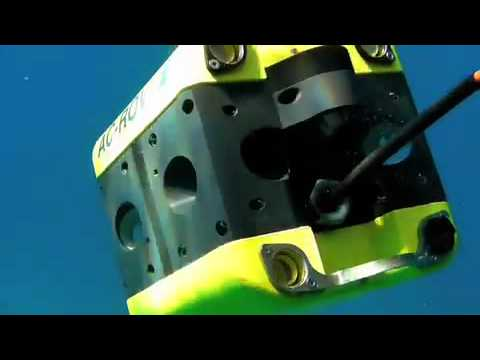 AC-ROV underwater inspection camera deployed from a superyacht Clip 2 (Courtesy of Aeronautic)
