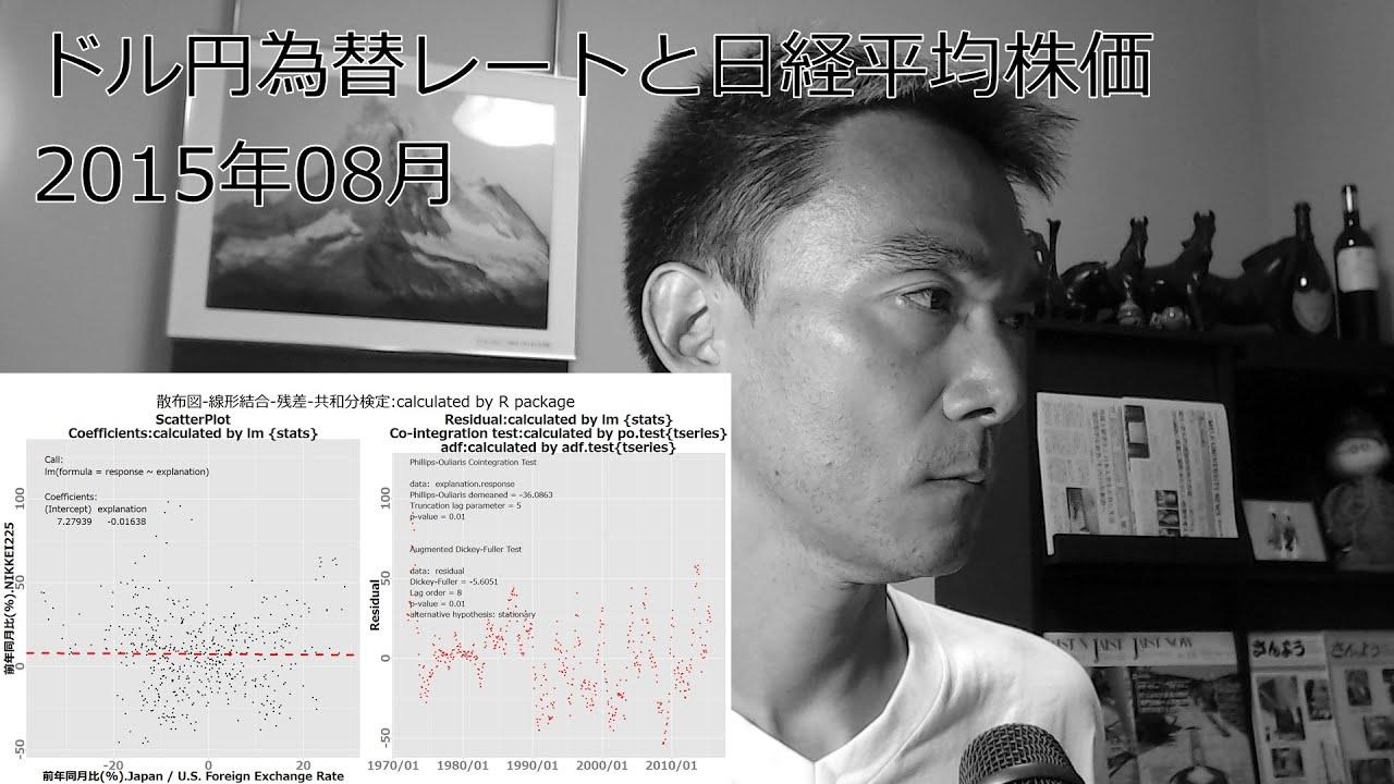 2015年08月 ドル円為替レートと...