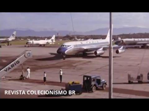 RIO DE JANEIRO GALEÃO 1968 VARIG BOEING B707 / CONVAIR 990 / DOUGLAS DC8 / CARAVELLE