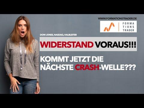 Dow Jones: Widerstand Voraus!!! Kommt Jetzt Die Zweite Crash-Welle???
