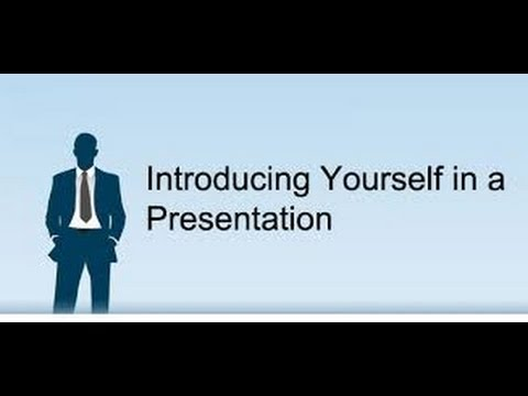 Self Introduction Speech Youtube