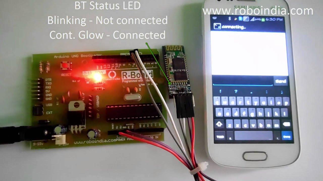 Arduino - Bluetooth device control on HC-06 - Robo India