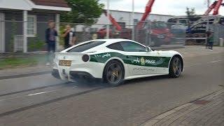 Ferrari F12 Berlinetta w/ LOUD Capristo Exhaust Making BURNOUTS!