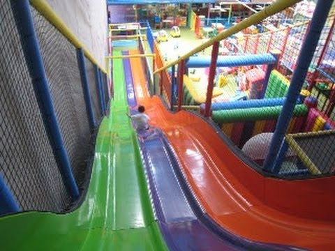Slides play centre knoxfield youtube for Indoor play slide