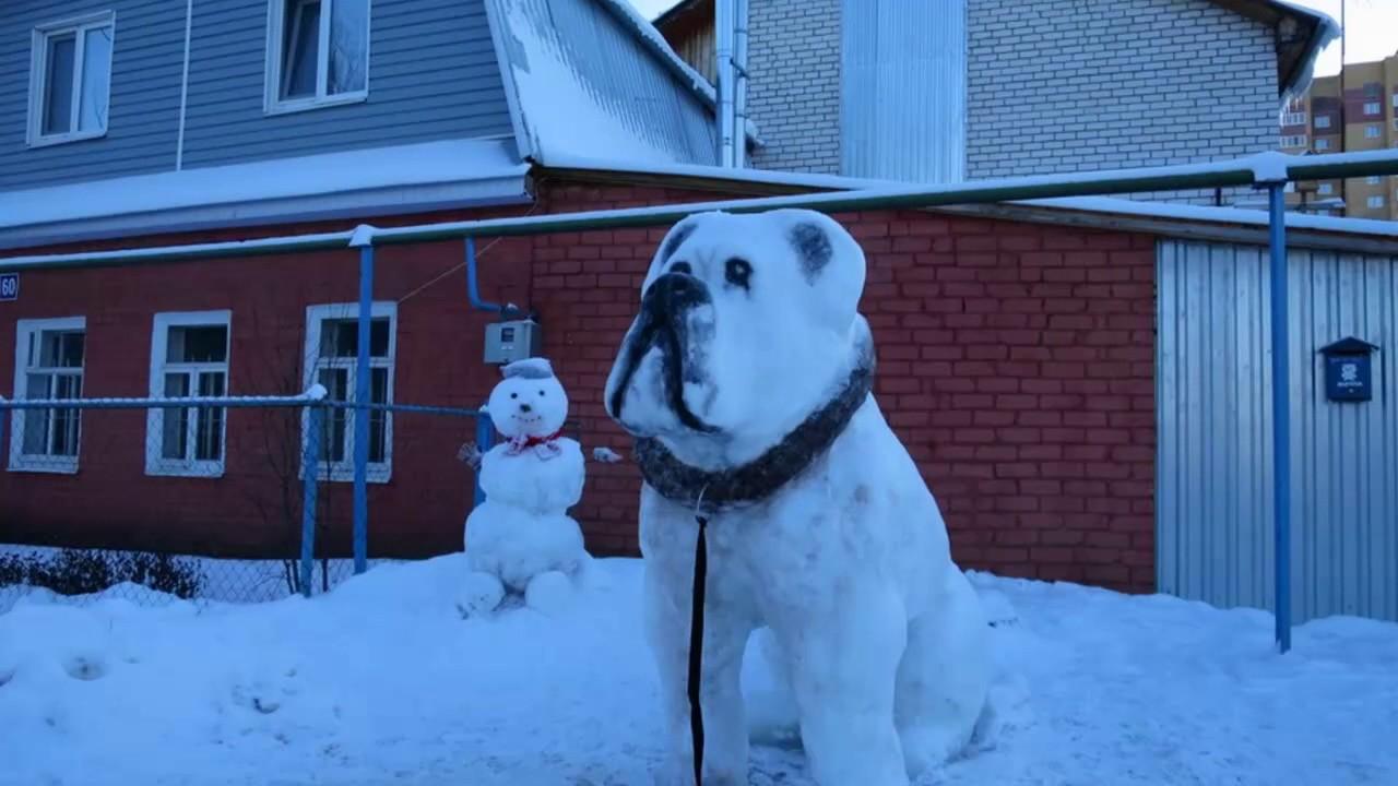2018 из снега своими руками фото