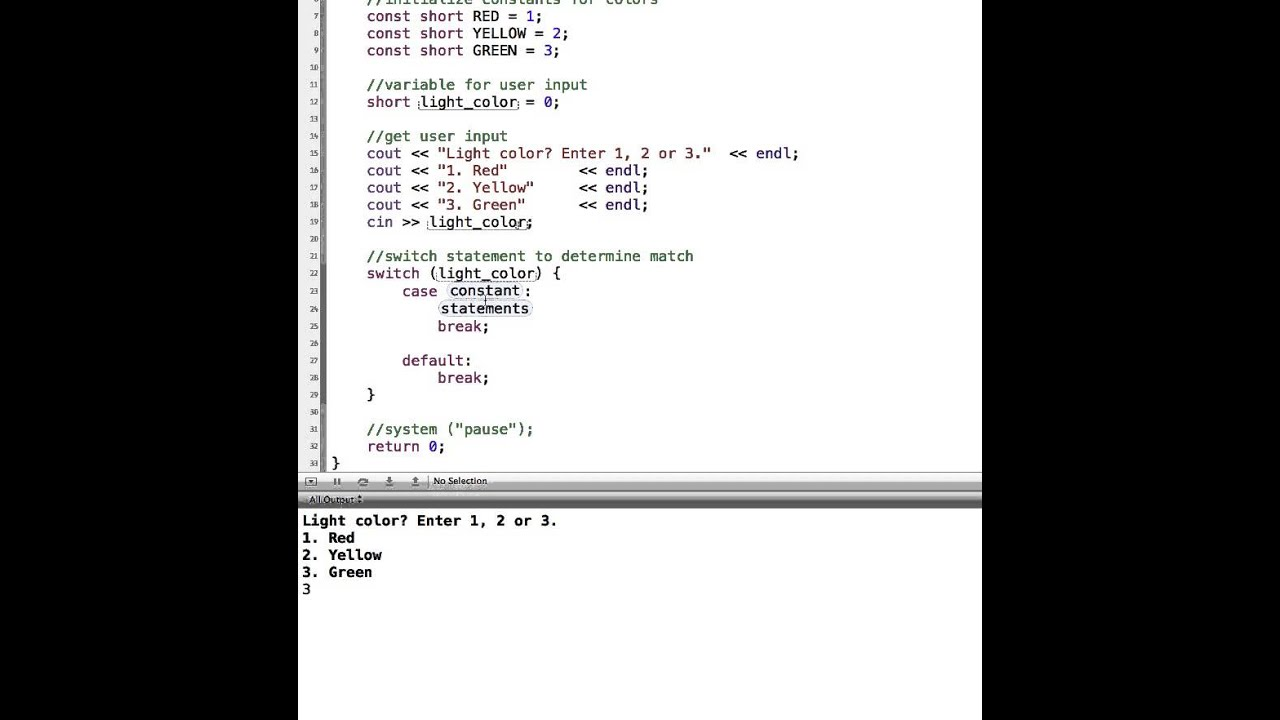 Switch statements in c youtube - Switch case java ...