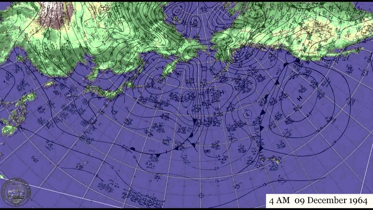 Pacific Weather Maps Leading Up To The Christmas Floods Of 1964
