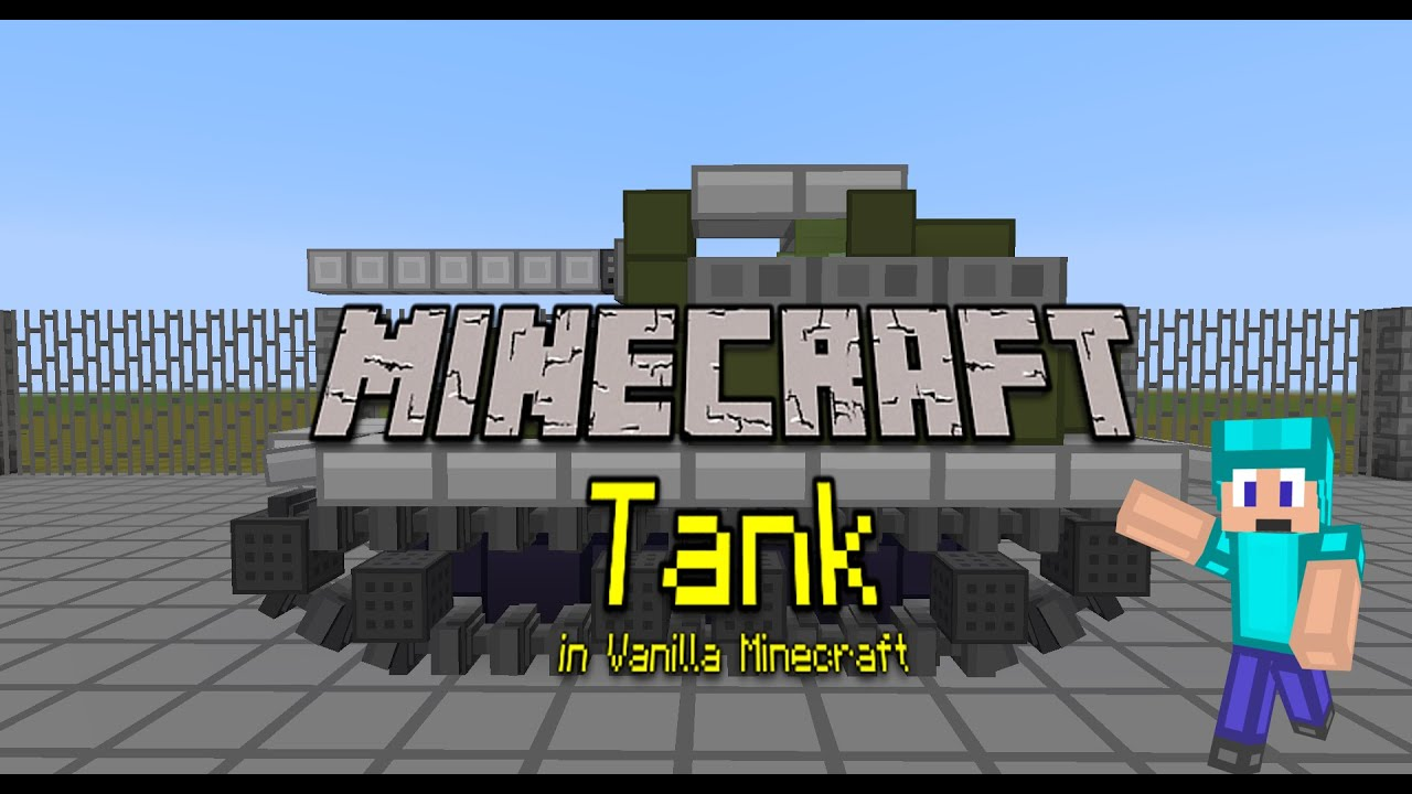 Vanilla MinecraftTank Only CommandBlocks YouTube - Minecraft panzer spiele
