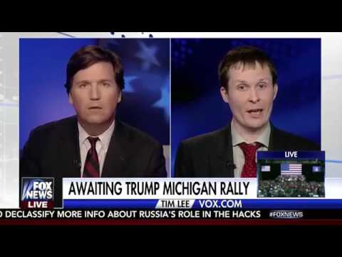 Tucker Carlson vs. Tim Lee of Vox News - Your Website Has Fake News, Should You Be Shut Down?