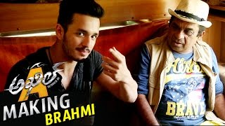 akhil fun with brahmanandam akhil movie making video