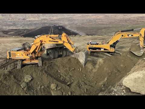 Liebherr 974 And Cat 385C Excavators Loading Trucks - Sotiriadis/Labrianidis
