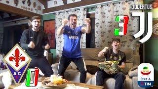 FIORENTINA 0-3 JUVENTUS   LIVE REACTION *PAZZA* TIFOSI JUVENTINI al GOL di CHIELLINI HD!!