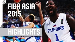 Philippines v Lebanon - Quarter Final - Game Highlights - 2015 FIBA Asia Championship