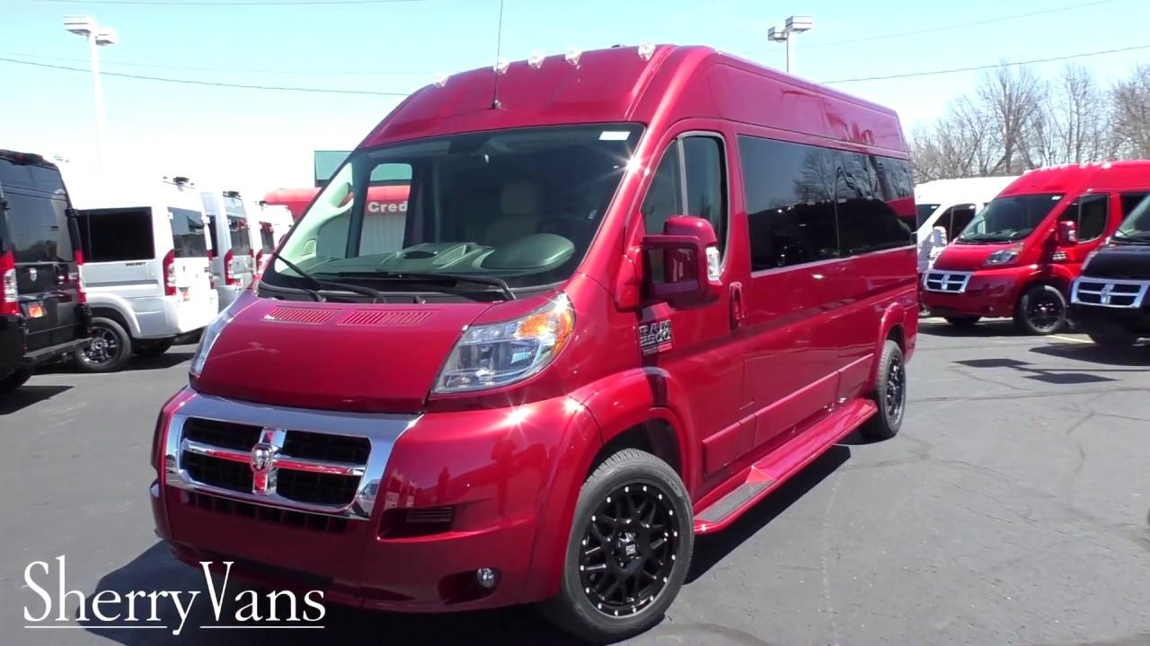 9418f9c591 2018 Ram ProMaster Conversion Van - Sherry Vans 9 Passenger In-Depth  Walkthrough
