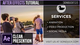 After Effects Tutorial: Easy Corporate Presentation Animation