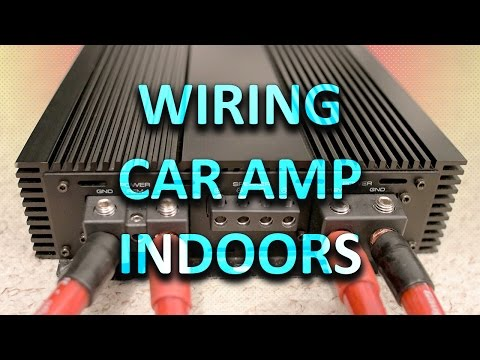 WIRING CAR AMPLIFIER INSIDE HOUSE | Part 1 - YouTube on