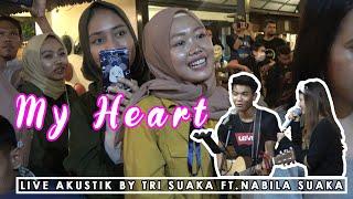 Download lagu MY HEART   ACHA SEPTRIASA & IRWAN SYAH LIRIK LIVE AKUSTIK BY TRI SUAKA FT  NABILA SUAKA