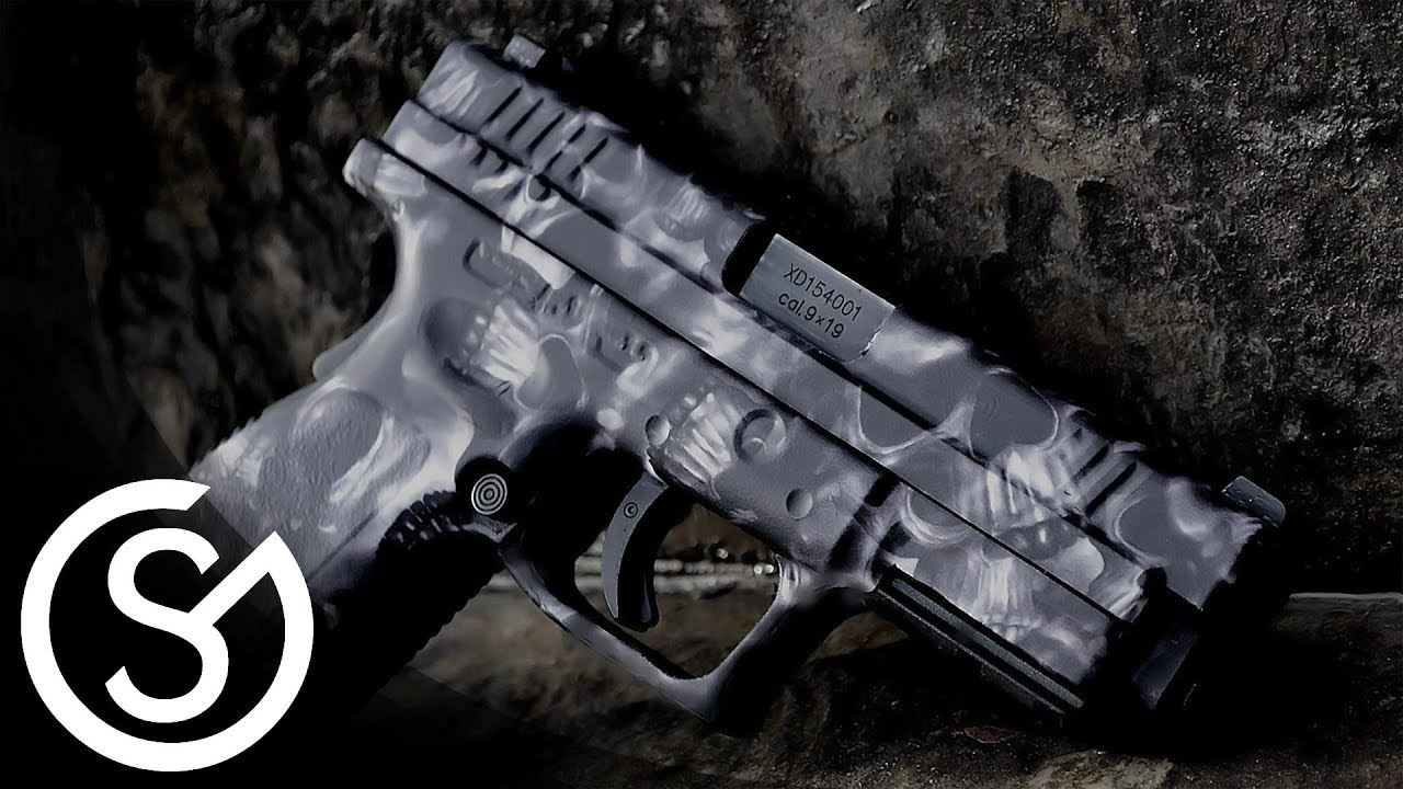 gunskins pistol skin diy install tutorial youtube