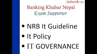 It Governance , Nrb It Guideline In Nepali , It Policy