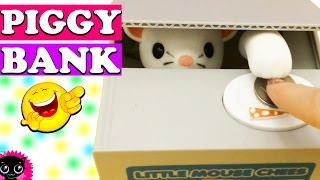 Best Toy! Mouse Thief Money Bank | Coin Saving Box Piggy Bank - Great Kids Gift | Coin Bank Review