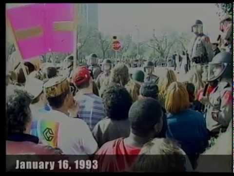 Mass Mooning of the KKK in Austin  - 1993