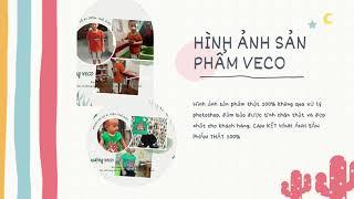 Đồ bộ quần áo bé trai bé gái Veco thời trang trẻ em cao cấp vải 100% cotton co giãn 4 chiều