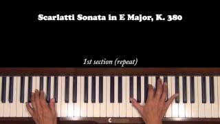 Scarlatti Sonata in E Major K. 380  Piano Tutorial