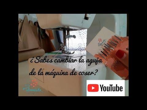 Cambiar la aguja de la máquina de coser - YouTube