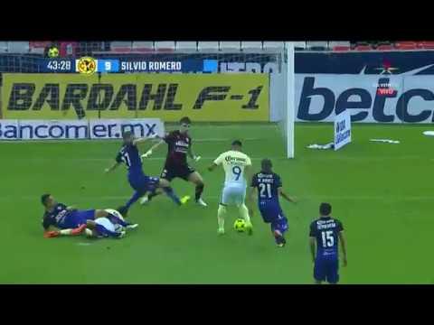 Gol de Silvio Romero   América 1-0 Querétaro
