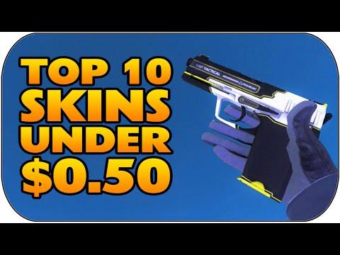 CSGO - Top 10 Skins Under $0.50 (Best Cheap Skins Under 50 Cents)