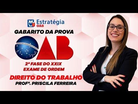Download Direito do Trabalho - 2ª Fase XXIX Exame de Ordem OAB: Gabarito