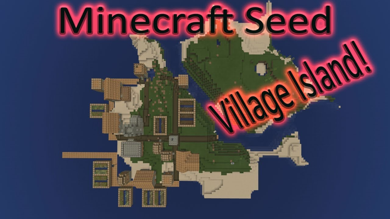 Minecraft Bedrock Seed Village Island Coolest Village Ever