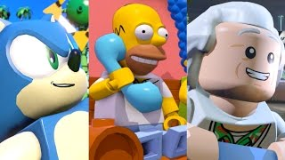 LEGO Dimensions Sonic the Hedgehog, The Simpsons, Back to the Future Walkthough