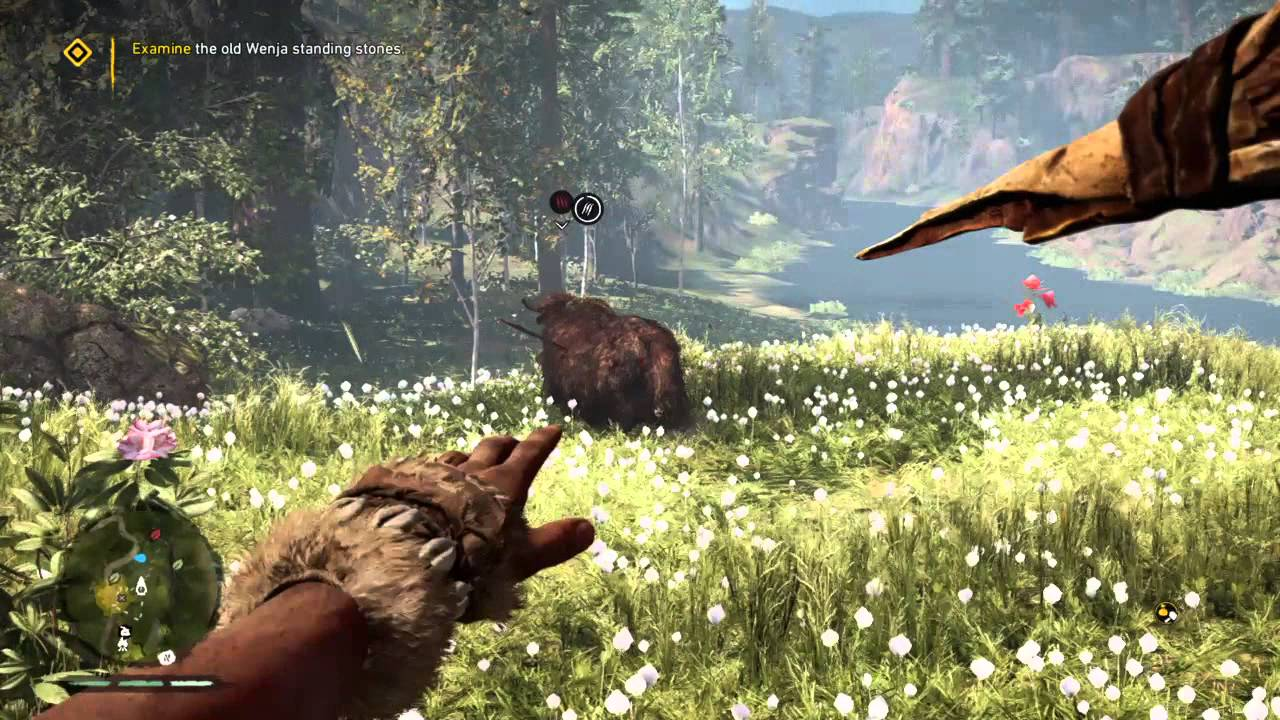 Far Cry Primal Cave Bear Vs Wooly Rhino By Extreme Gamer