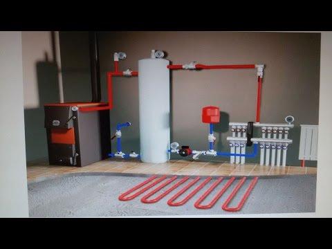 Монтаж системы отопления в доме. Котел Protherm Gepard