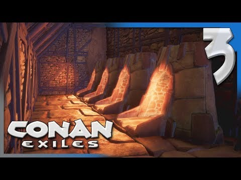 THE HUNT FOR IRON * COMBAT! | Conan Exiles Multiplayer Let's Play/Gameplay S4E3