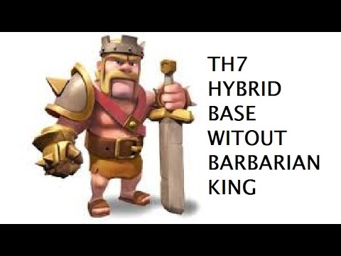 Th7 Hybrid Base Without Barbarian King Youtube