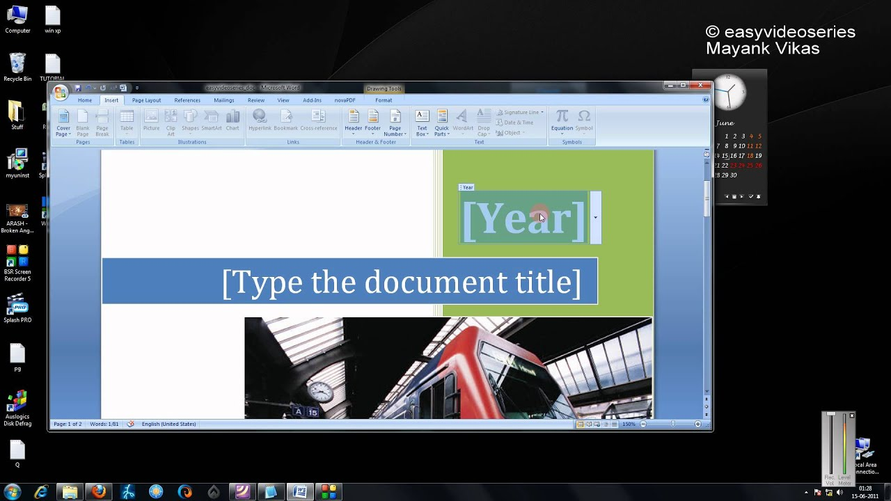 how to create cool cover pages in three keystrokes in microsoft how to create cool cover pages in three keystrokes in microsoft office 2007 step by step tutorial