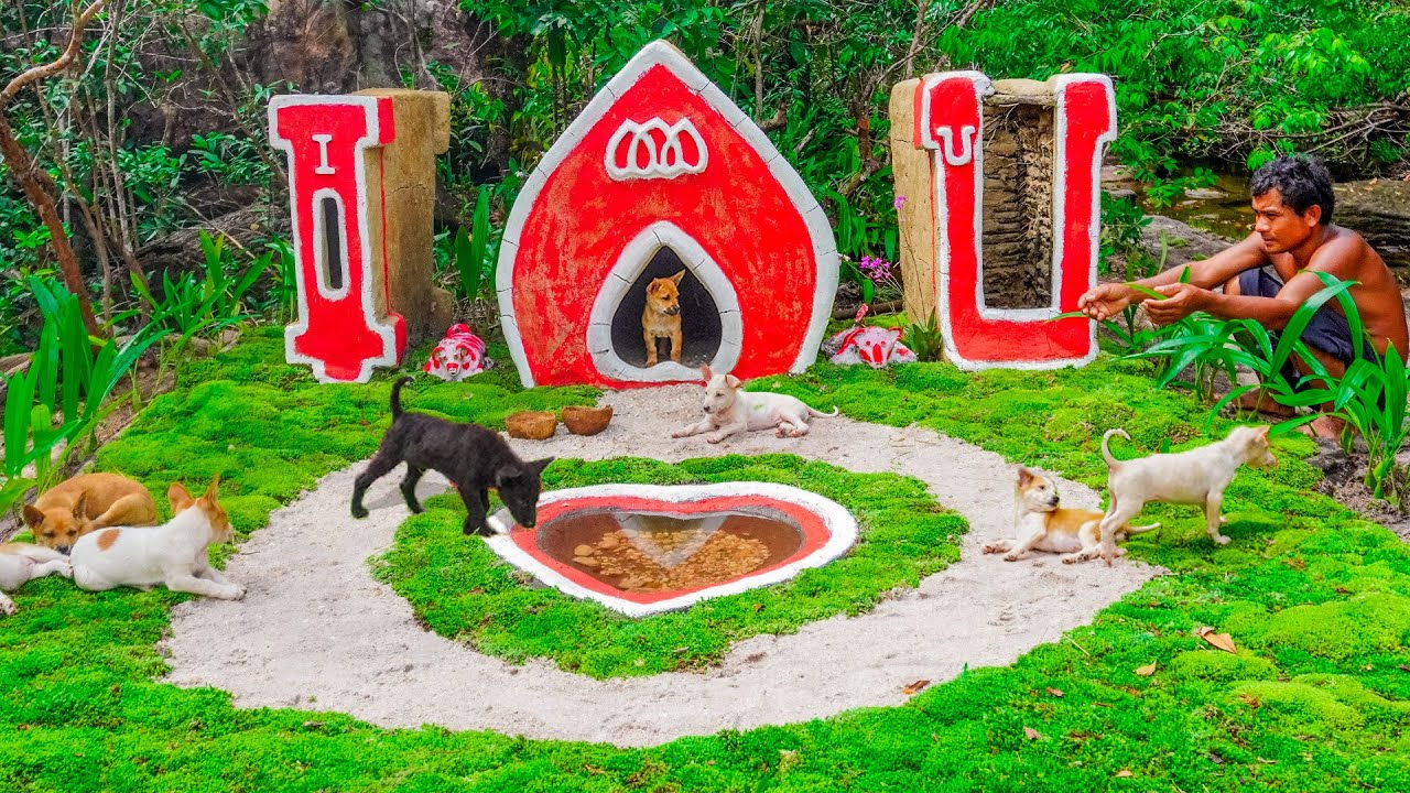 Rescue Poor Puppy And Build Dog House In I LOVE YOU Style