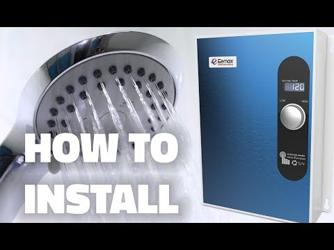 How to Install an Eemax Electric Tankless Water Heater - YouTube Eemax Wh Electrical Wiring Diagram on