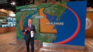 4.1 magnitude earthquake in Delaware