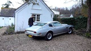 Aston Martin V8 exhaust sound 1