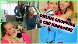 ONLINE SHOPPING + CAR KARAOKE!!! Vlogmas Day 18!
