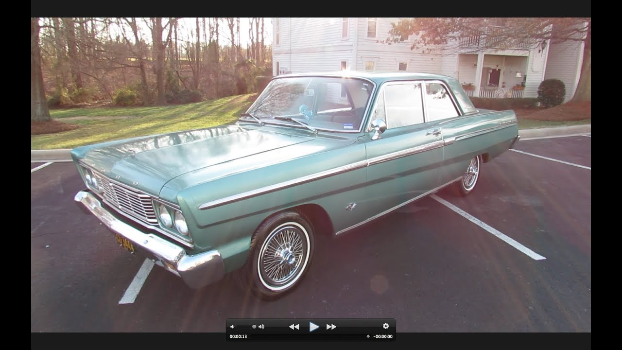 1965 ford fairlane 500 289 2 door 3 spd start up exhaust in depth review and test drive youtube